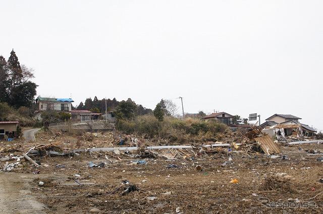 東日本大震災 被災者に物資を配る大阪泉南市の市議  ISHIDA Shinichi 東日本大震災