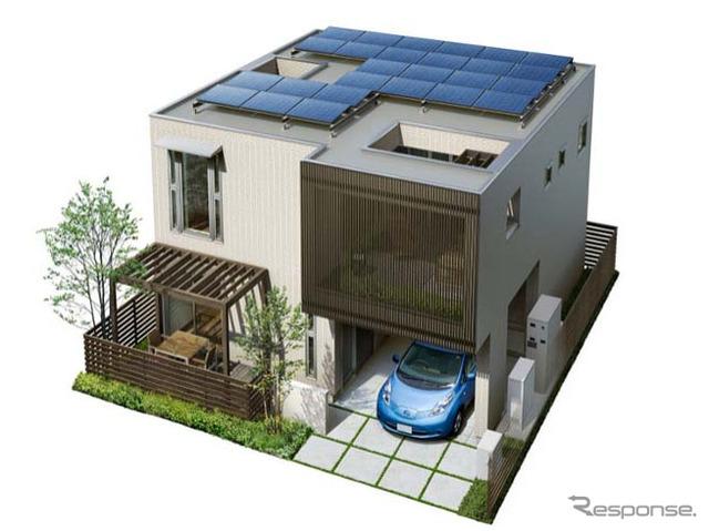 ヘーベルハウス アイテム搭載住宅外観例  ヘーベルハウス アイテム搭載住宅外観例 次の画像 この