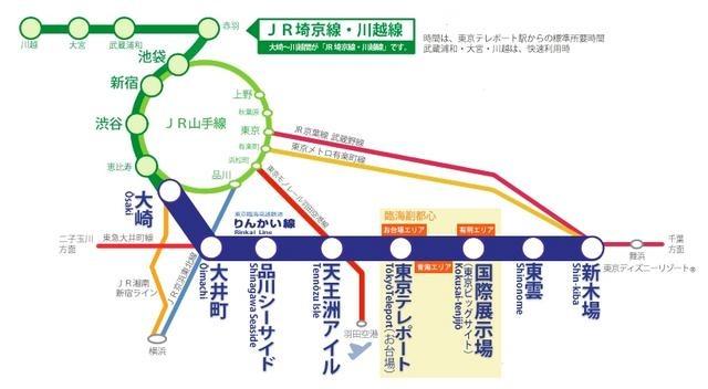りんかい線 駅・路線図から地図を検索 マピオン