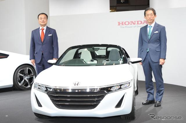 Honda S66 >> 【東京モーターショー13】ホンダ ビート後継を2015年市販化…S660 コンセプト初公開 1枚目の写真・画像 | レスポンス