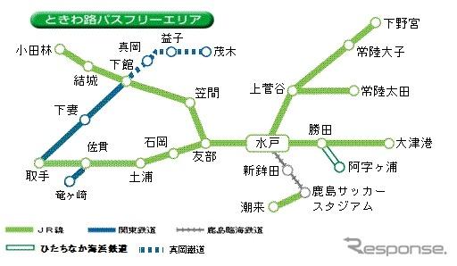 「ときわ路パス」関鉄竜ヶ崎線と真岡鐵道もフリー区間に(レスポンス 2014年3月22日)