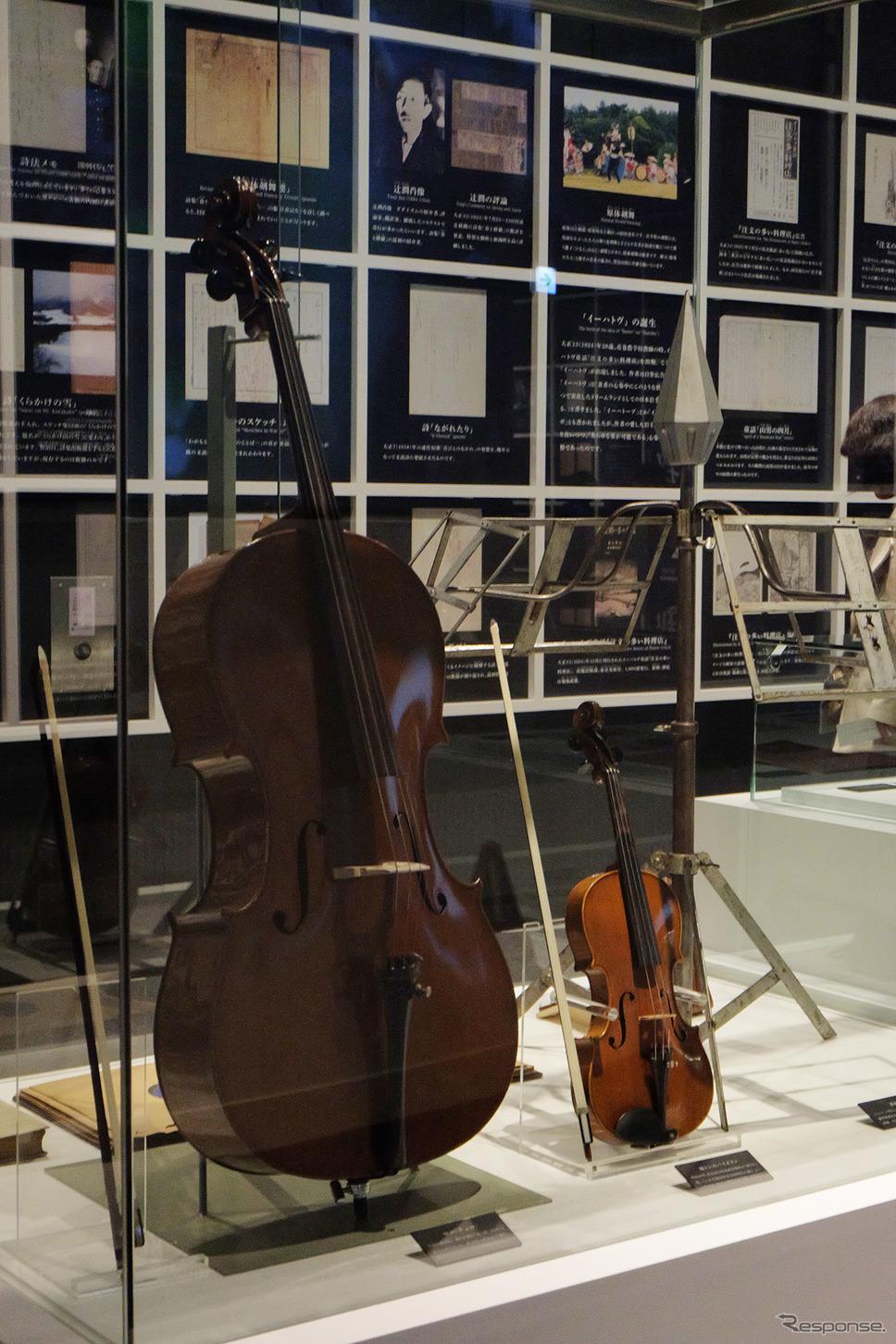 宮沢賢治が使用した楽器。