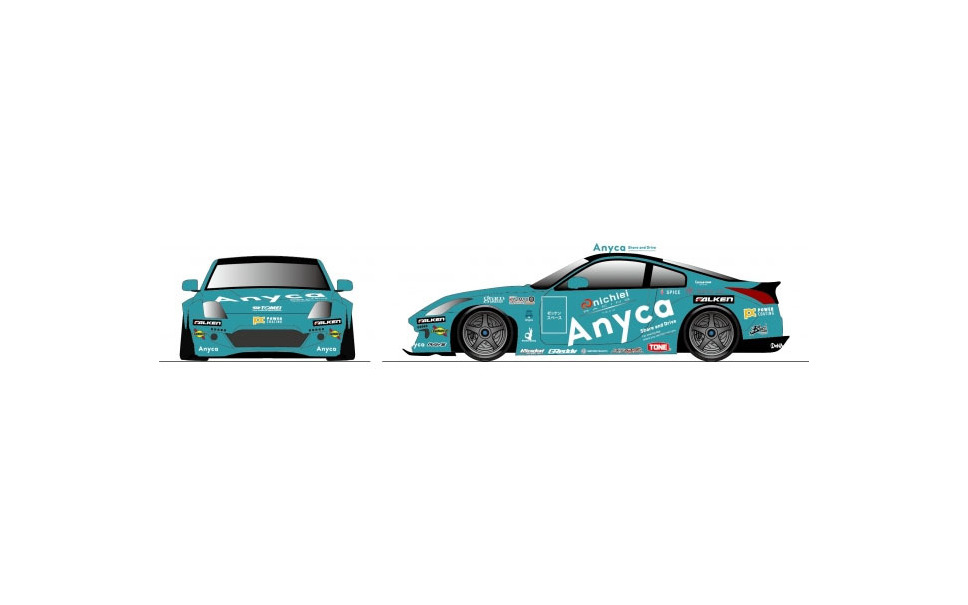 Anycaラッピングのレーシングカー「nichiei RACING TEAM with Anyca Z33 RS」