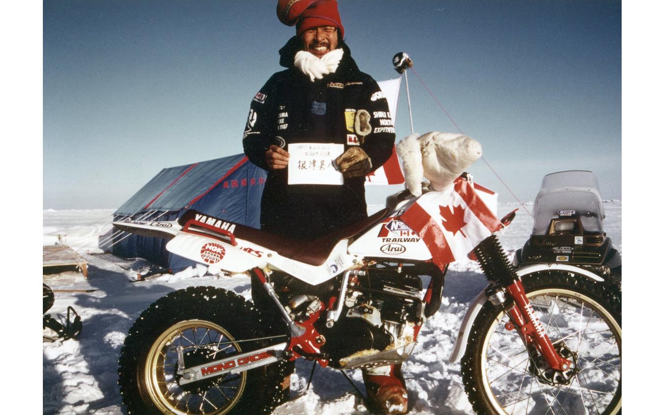 北極点へバイクで到達。1987年に達成した風間深志さん。