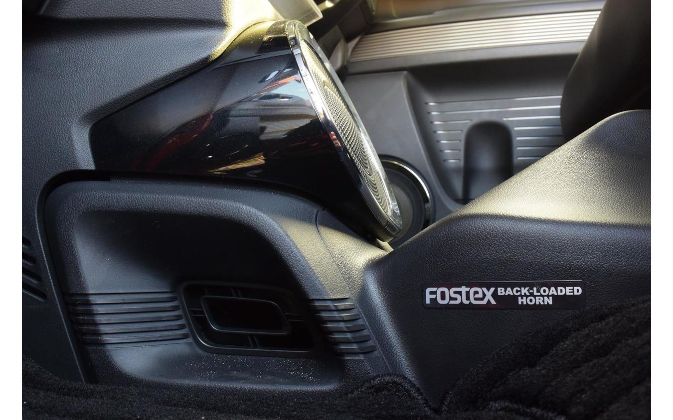 FOSTEXのスーパーウーファー。軽自動車の室内容積にはこれで十分すぎるほどだった。