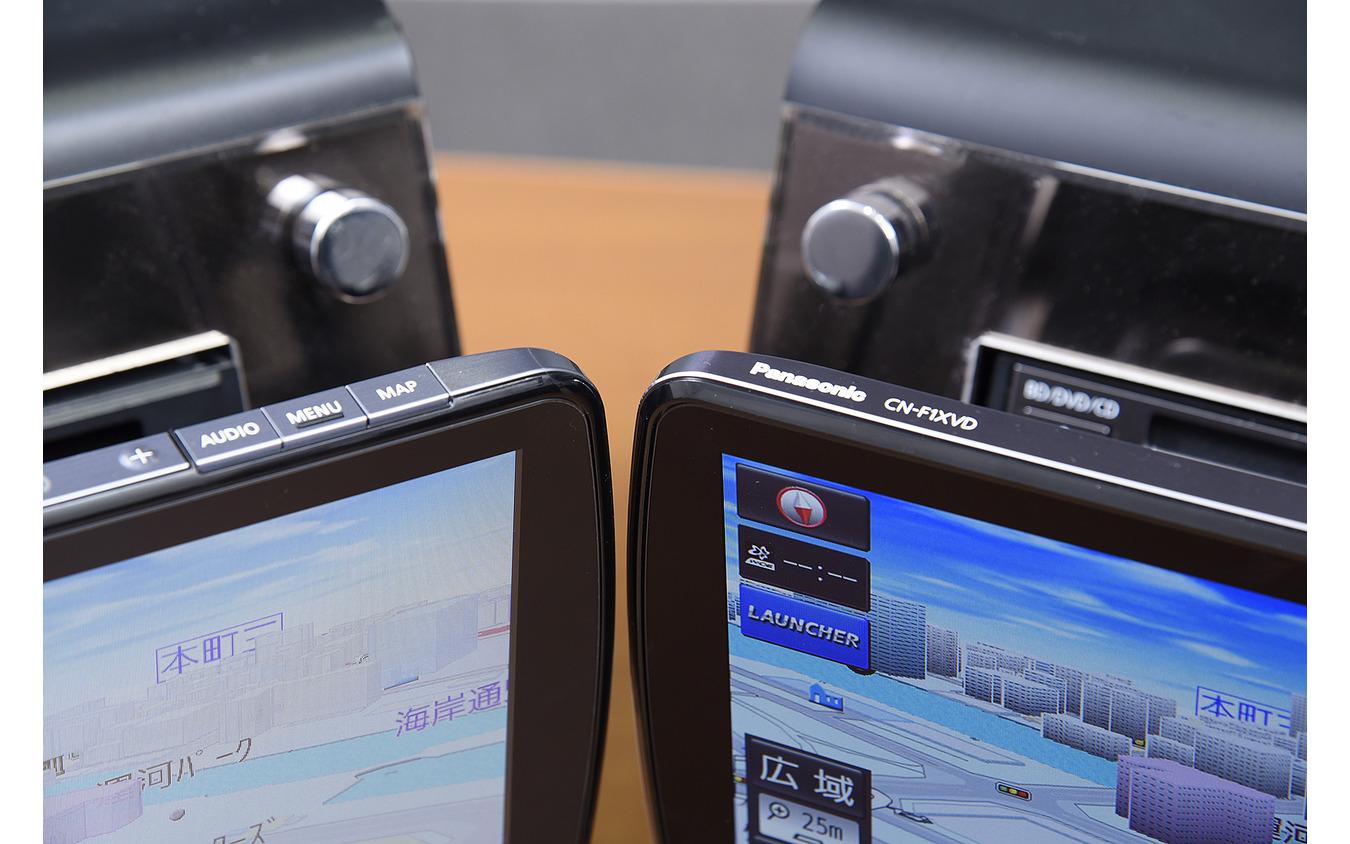 『CN-F1XVD』と『CN-F1DVD』でフレームの仕上げに差がある