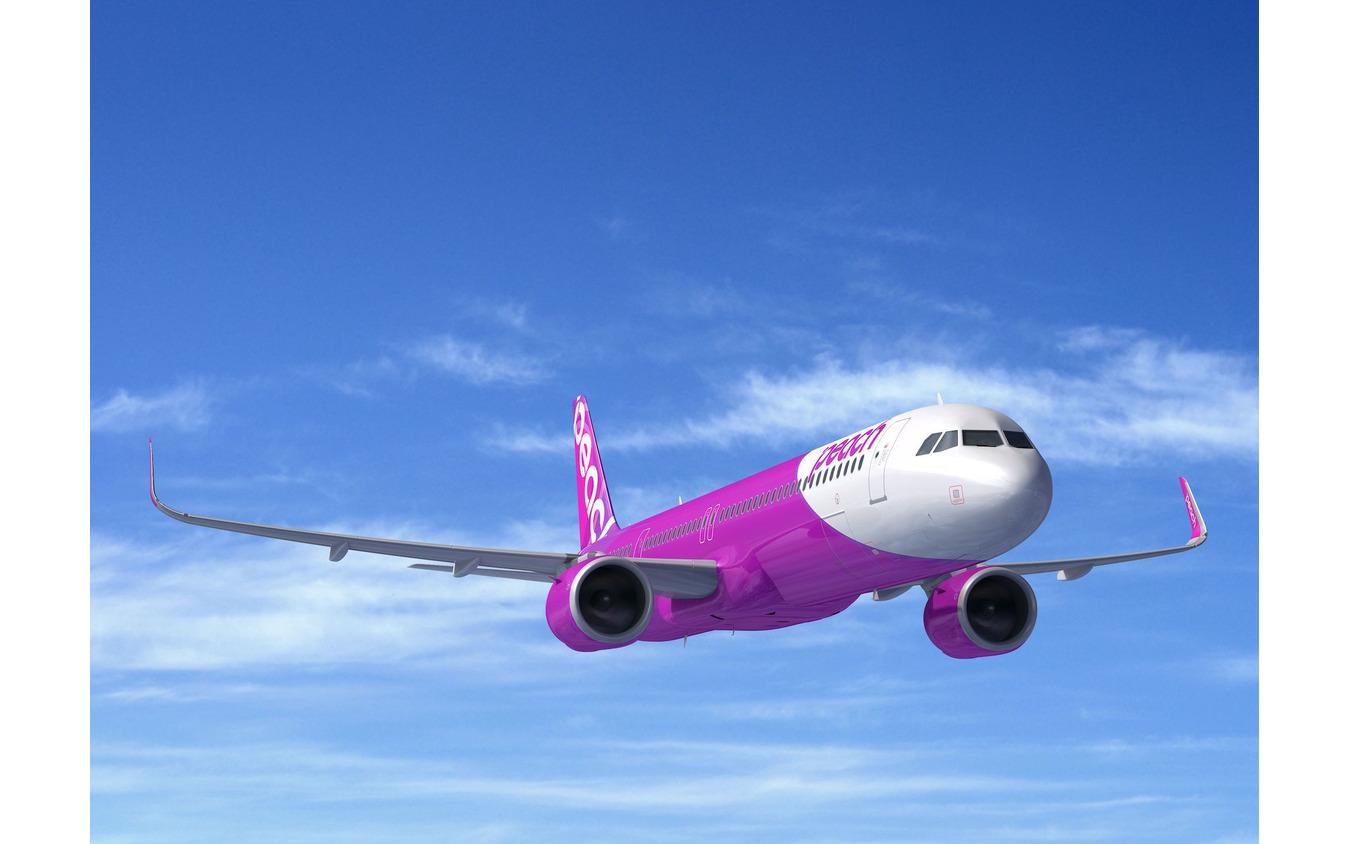 ピーチが、アジアで初めて、A321LRのカスタマーに。(完成予想写真) (c) Airbus