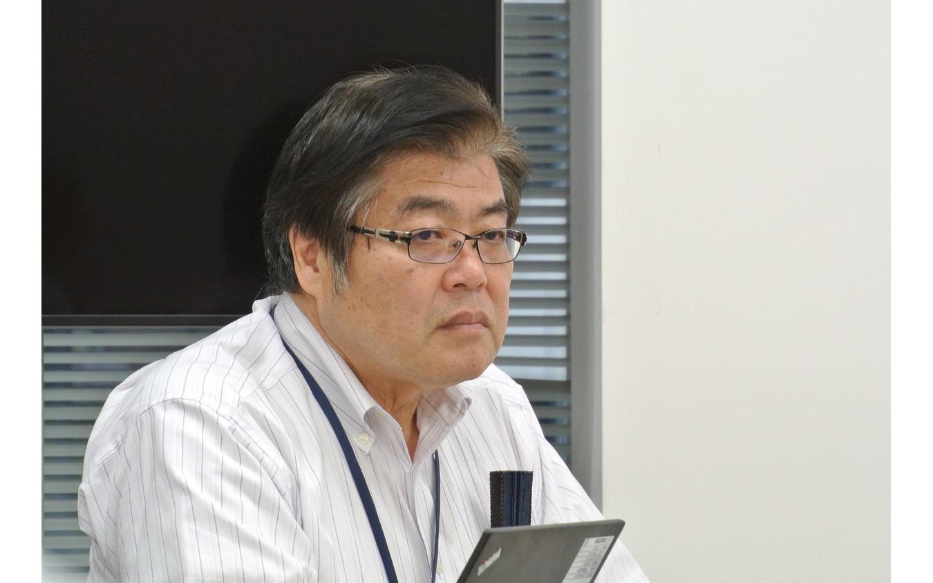 マツダのエンジン開発のキーマンとして知られる人見光夫・常務執行役員。内燃機関のポテンシャルはまだまだこんなものではないと語っていた。