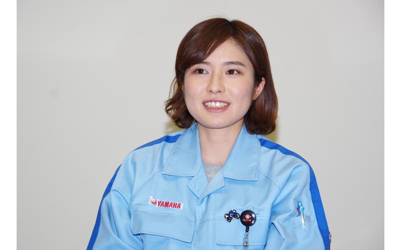 ヤマハ発動機 PF車両ユニット 車両実験部の渡邊真帆さん