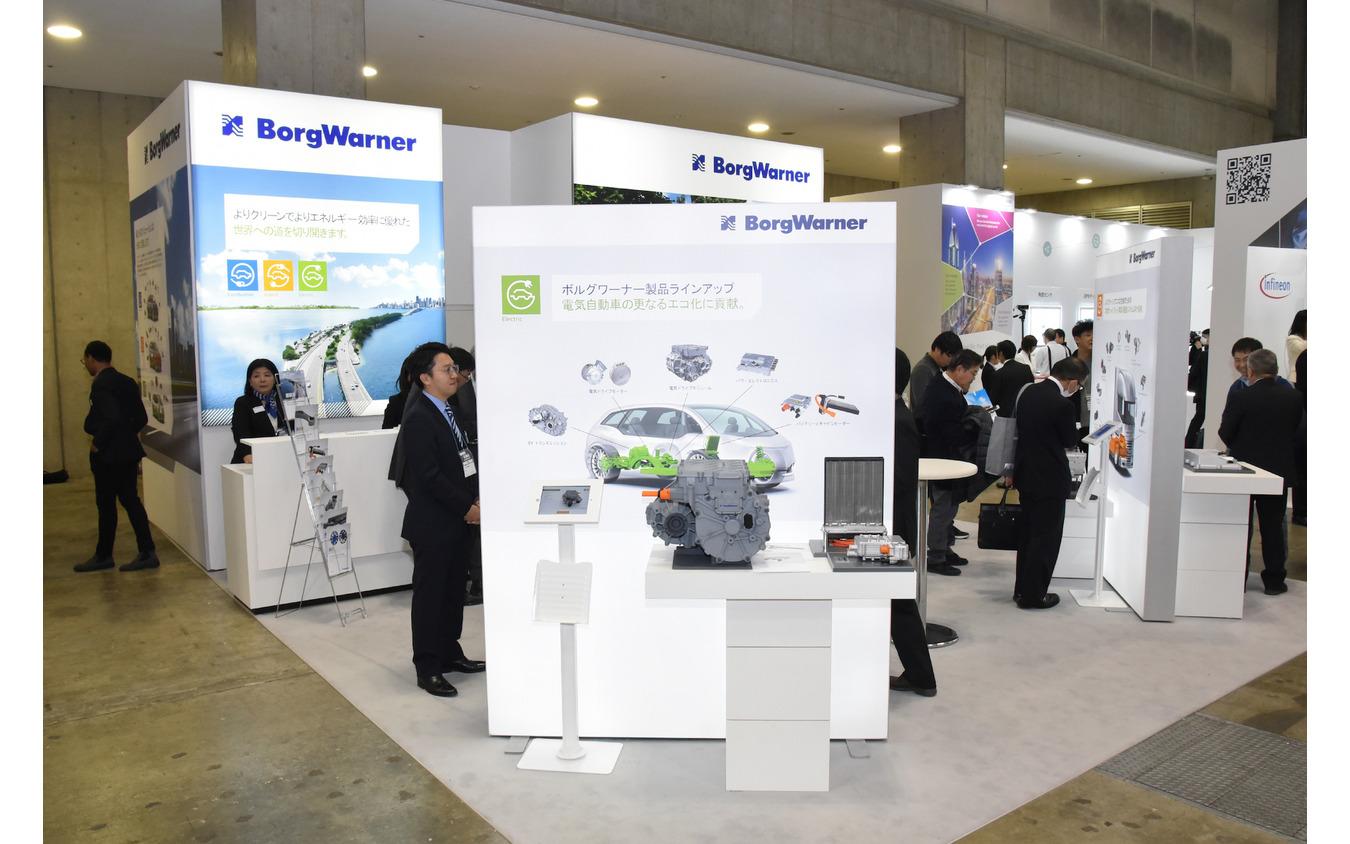 ボルグワーナーブース(第10回EV・HEV駆動システム技術展~EV JAPAN~/オートモーティブワールド2019)