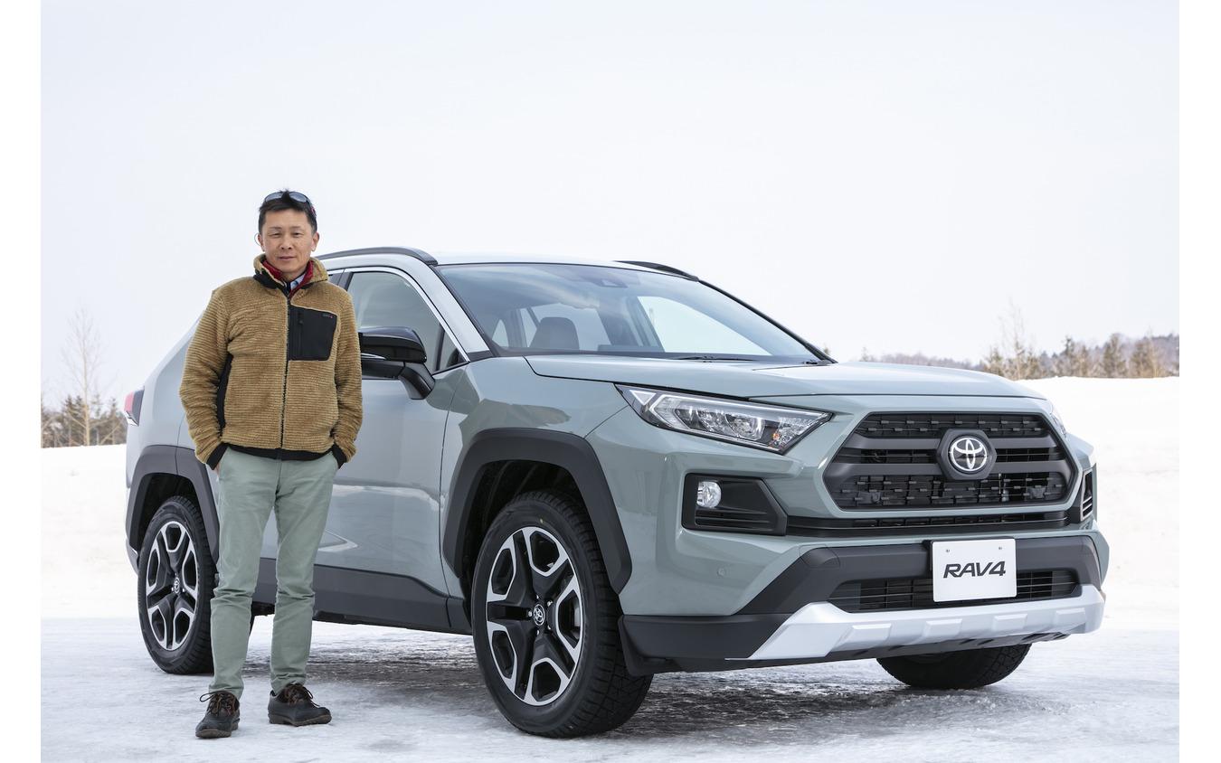桂伸一氏とトヨタ RAV4 新型(Adventure)