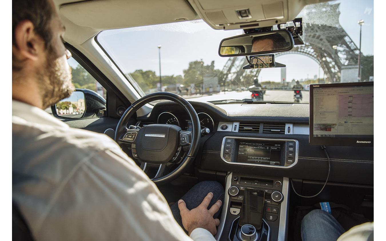 ヴァレオの市街地でのレベル3自動運転デモカー「Drive4U」(参考画像)