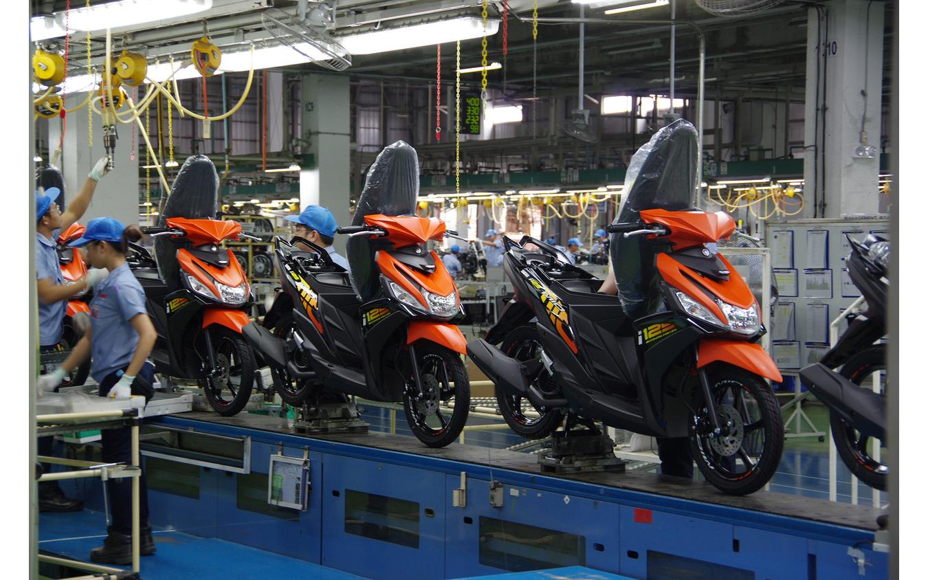 ヤマハ・モーター・フィリピン(YMPH)の生産ライン