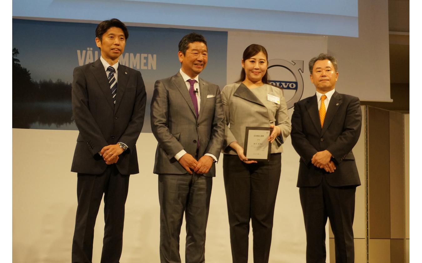 個人競技で優勝したボルボスタジオ青山の鈴木裕美さん