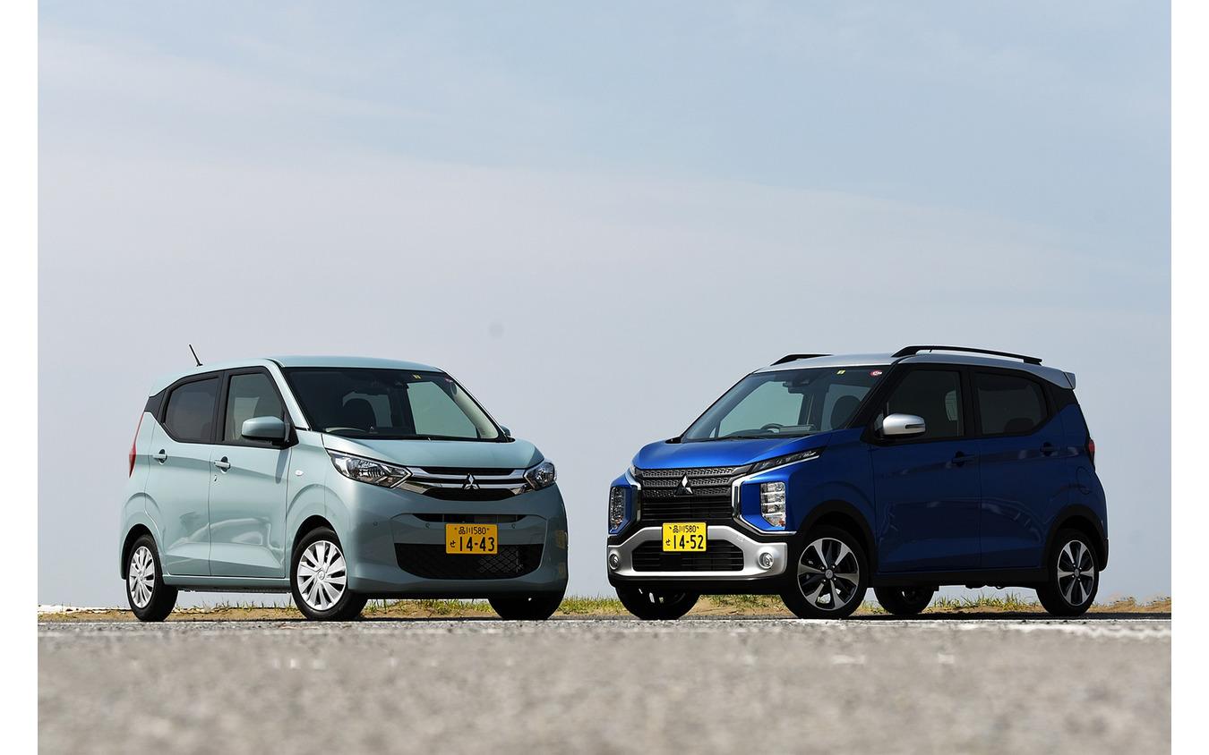 三菱 eKワゴン 新型(右)と eKクロス 新型(左)