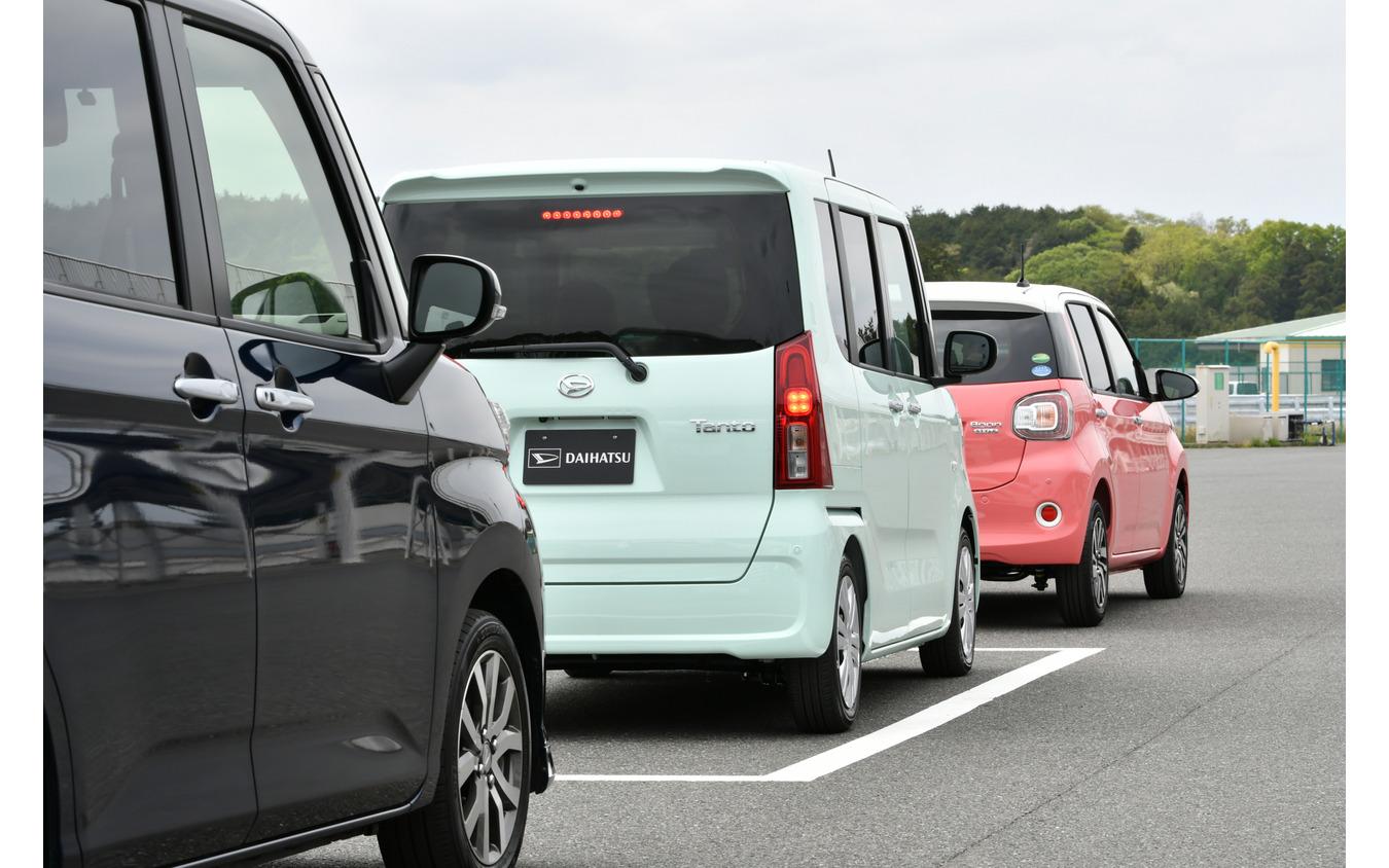 ダイハツ タント 新型の駐車支援機能は、縦列駐車もサポートする