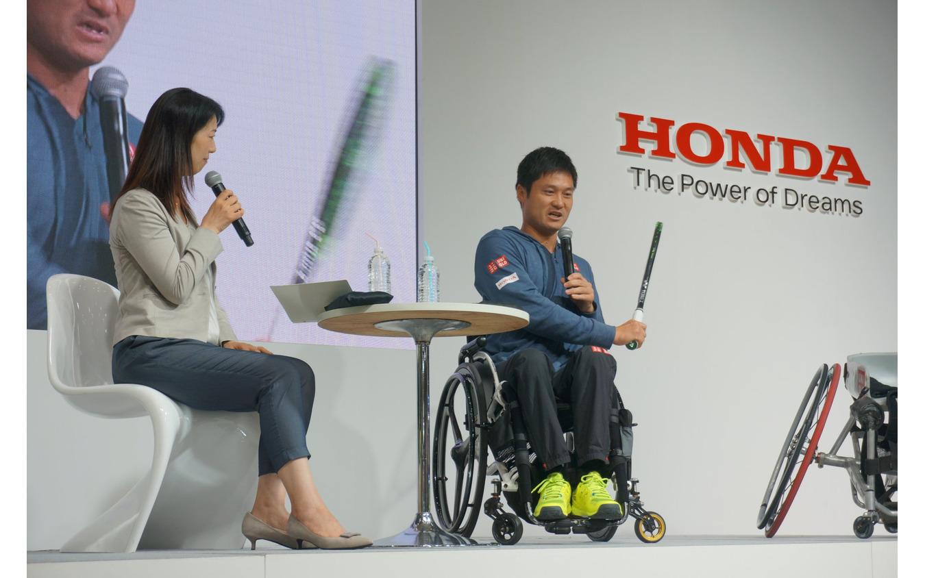H.C.R. 2019 ホンダブース 国枝慎吾選手・まるも亜希子氏トークショー