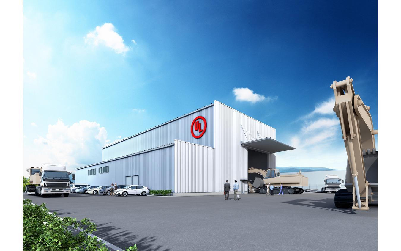 伊勢本社にて2020年7月稼働予定の、新EMC試験棟(大型電波暗室)