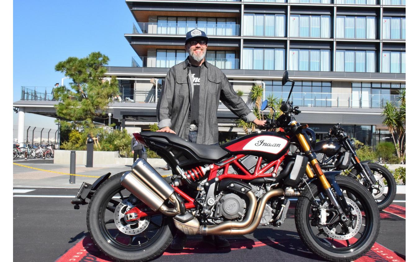インディアンモーターサイクルの本国デザイナーであるオラ・ステネガルド氏