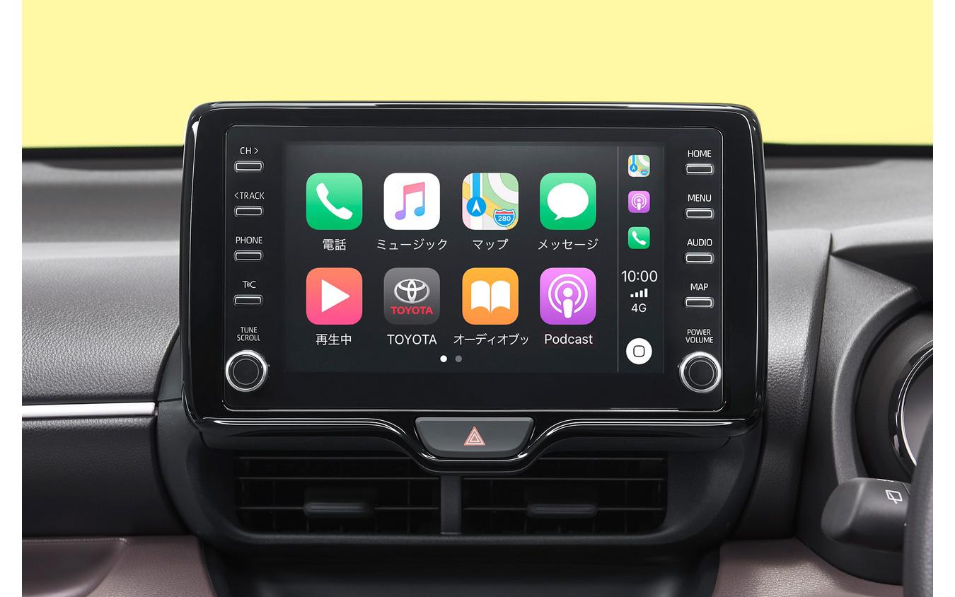 トヨタ・ヤリス新型の8インチディスプレイオーディオ