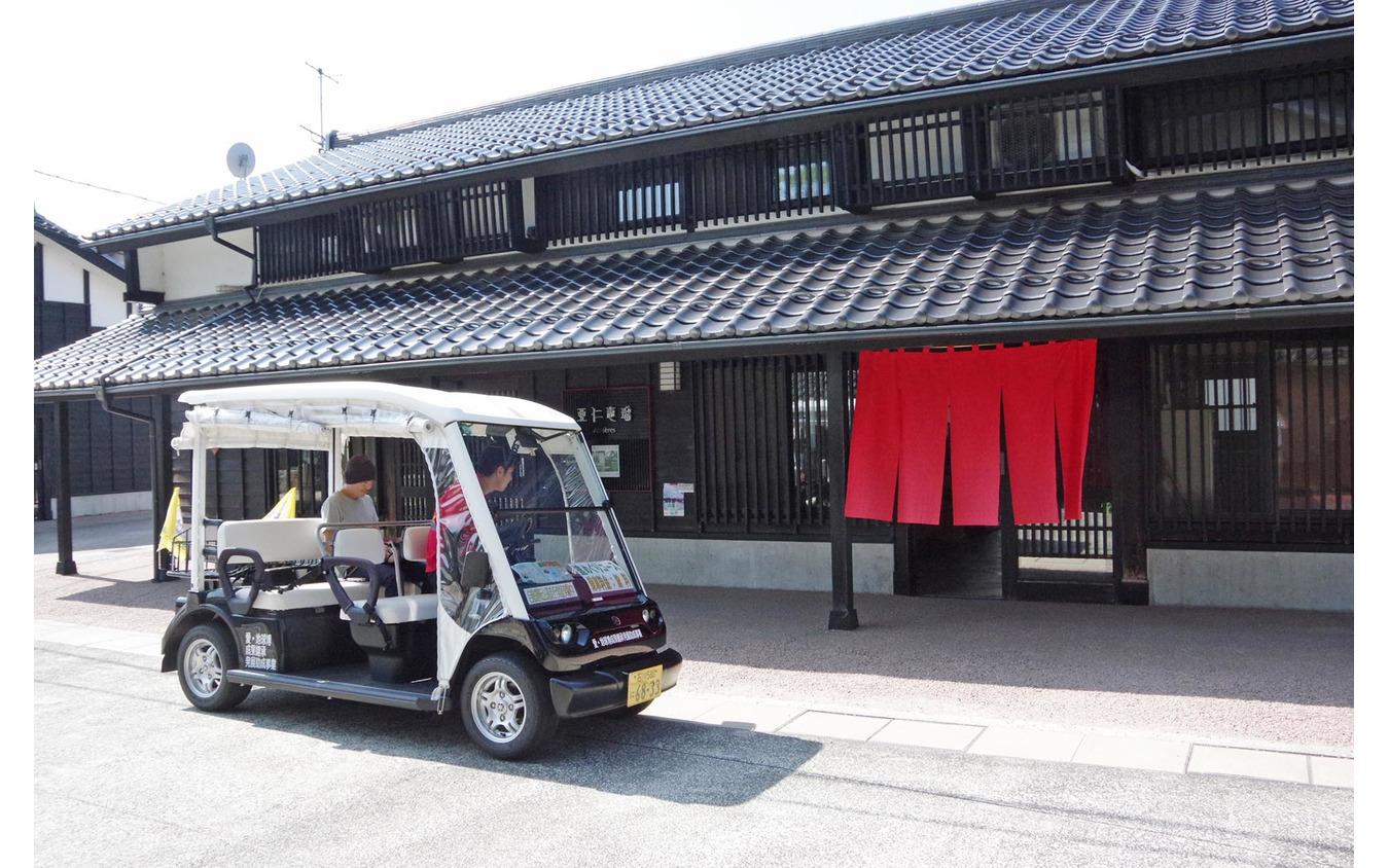 石川県輪島市でおこなわれた電動ゴルフカートを用いた自動運転の実証実験