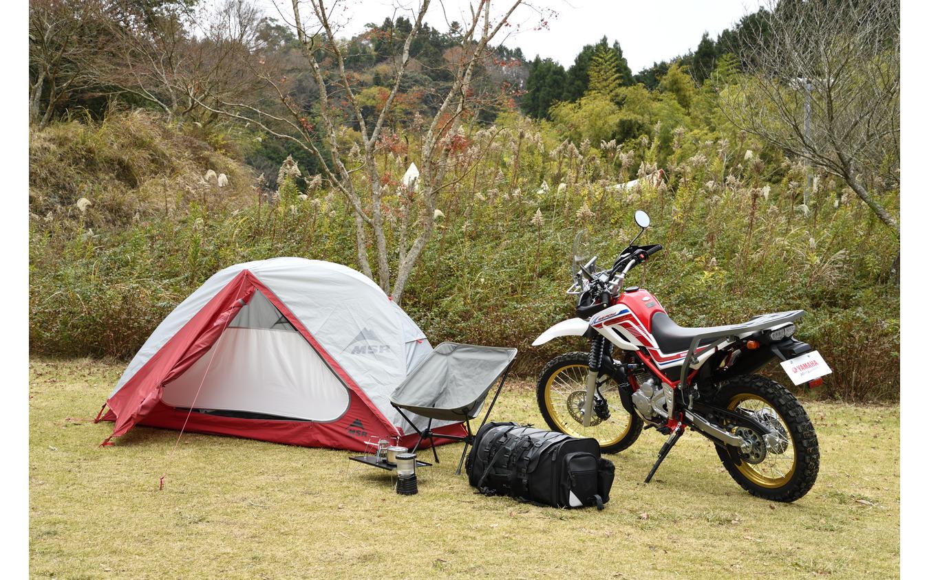 「ヤマハバイクレンタル」でセローと一緒にレンタルできるキャンプグッズ