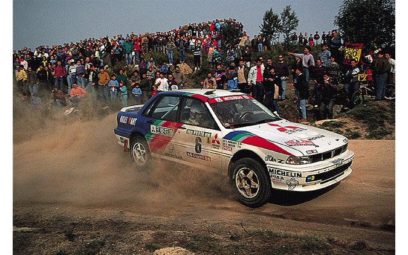 WRCで活躍した三菱 ギャランVR4
