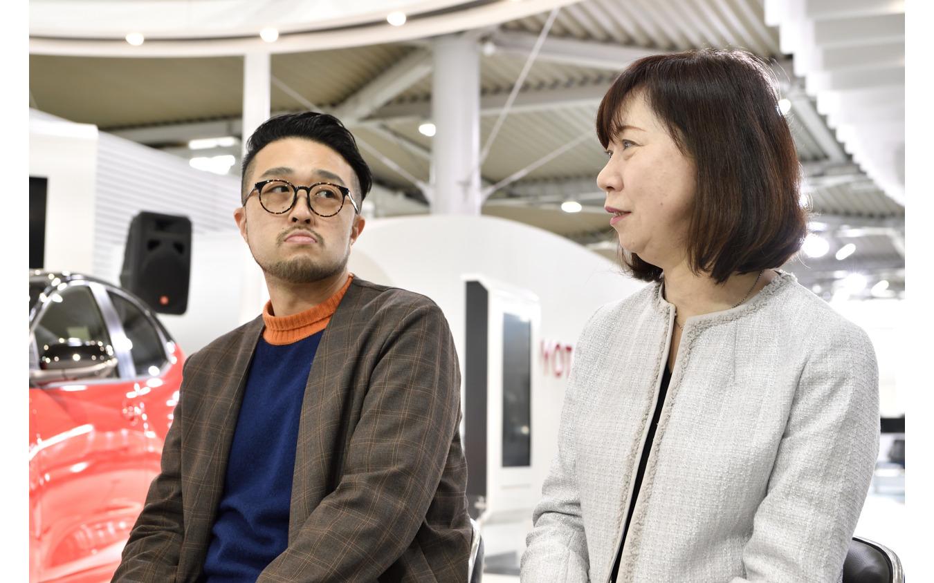Game*Spark 宮崎紘輔 編集長(左)とリセマム田村麻里子 編集長