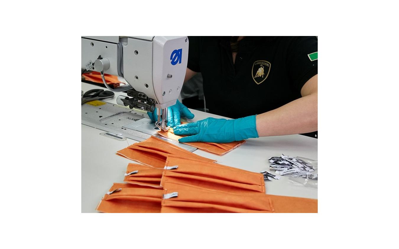 ランボルギーニがマスクの生産を開始