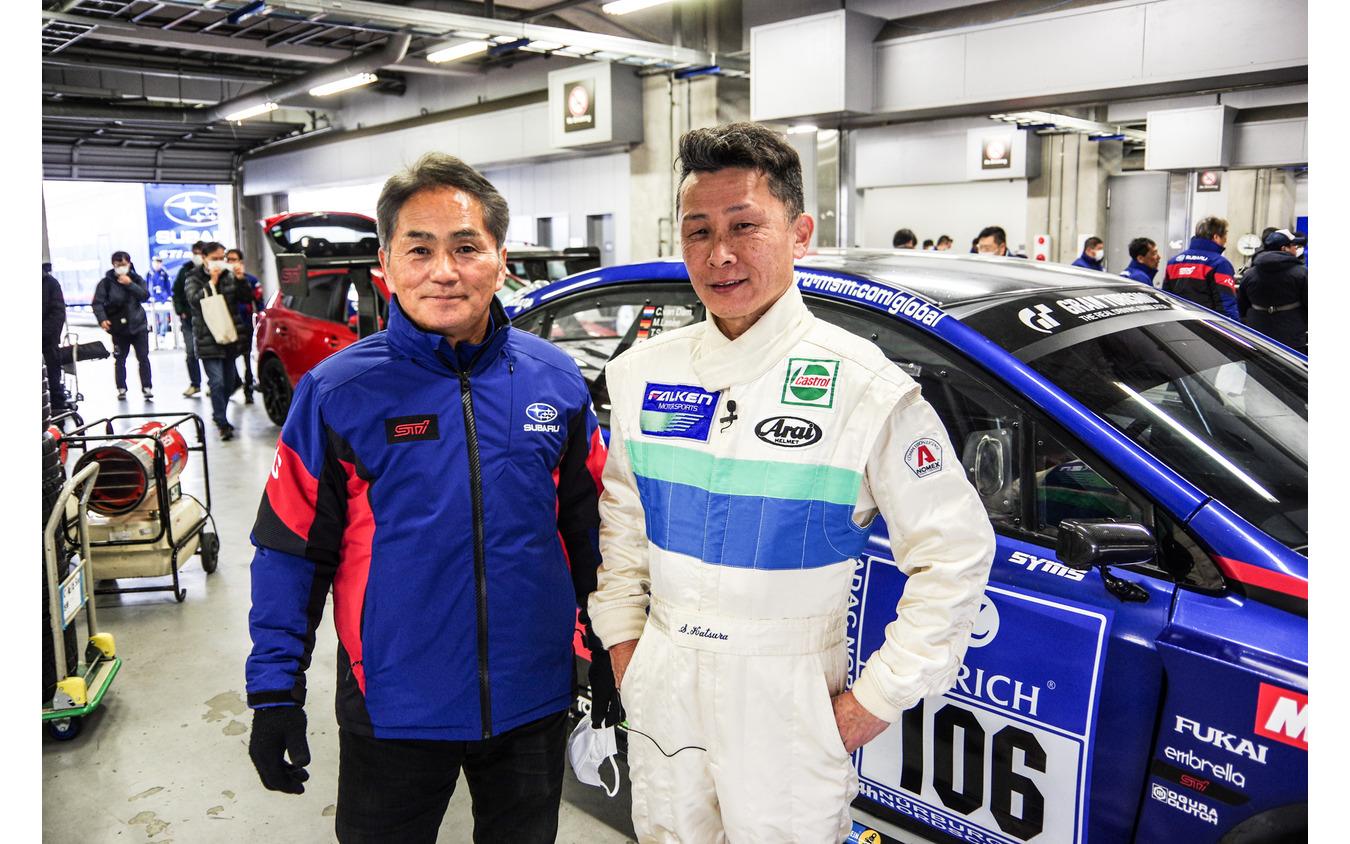 STI総監督の辰己英治氏(左)と桂伸一氏