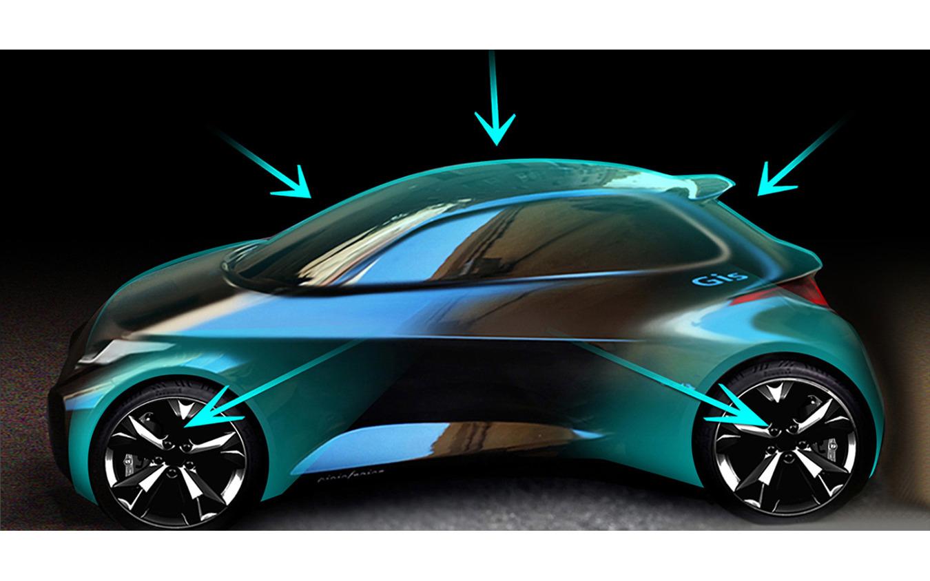 トヨタ ヤリス 新型のデザインスケッチ