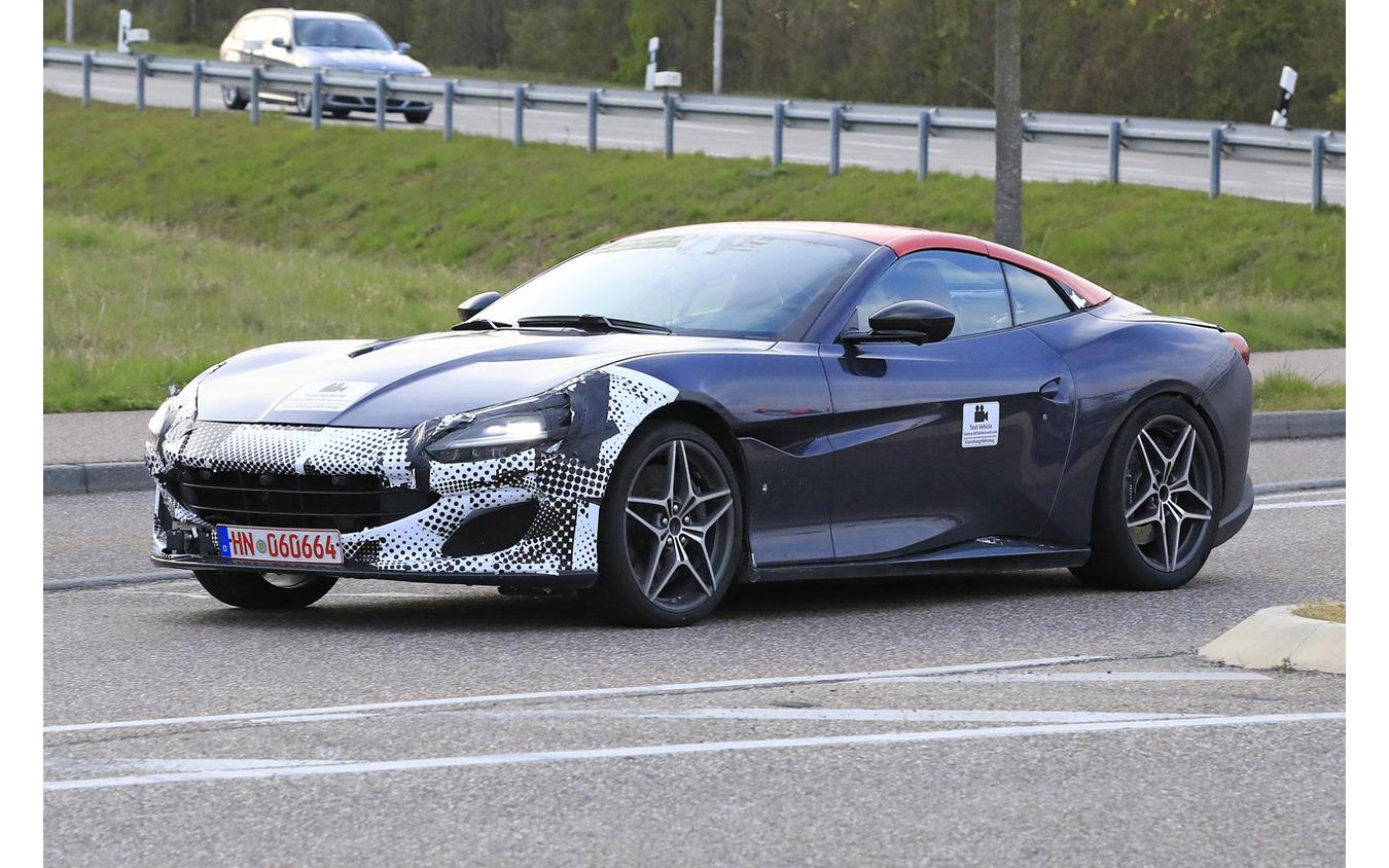 フェラーリ ポルトフィーノ 改良新型プロトタイプ(スクープ写真)