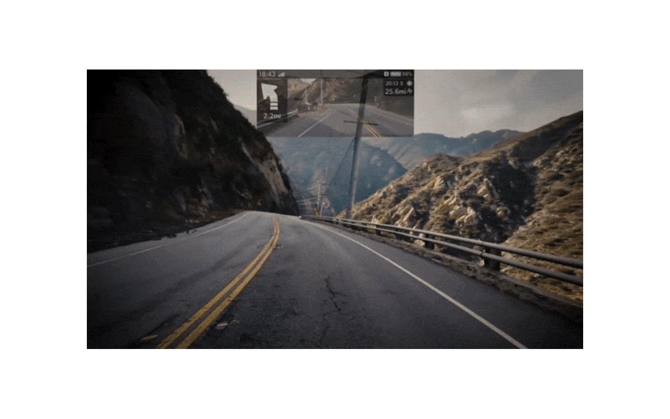 「クロスヘルメット X1」の視界イメージ