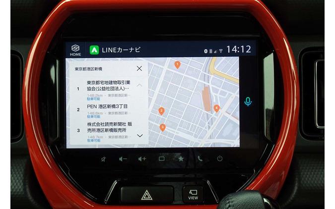スマートフォン連携のSDLを起動すると、LINEカーナビが使えるようになる