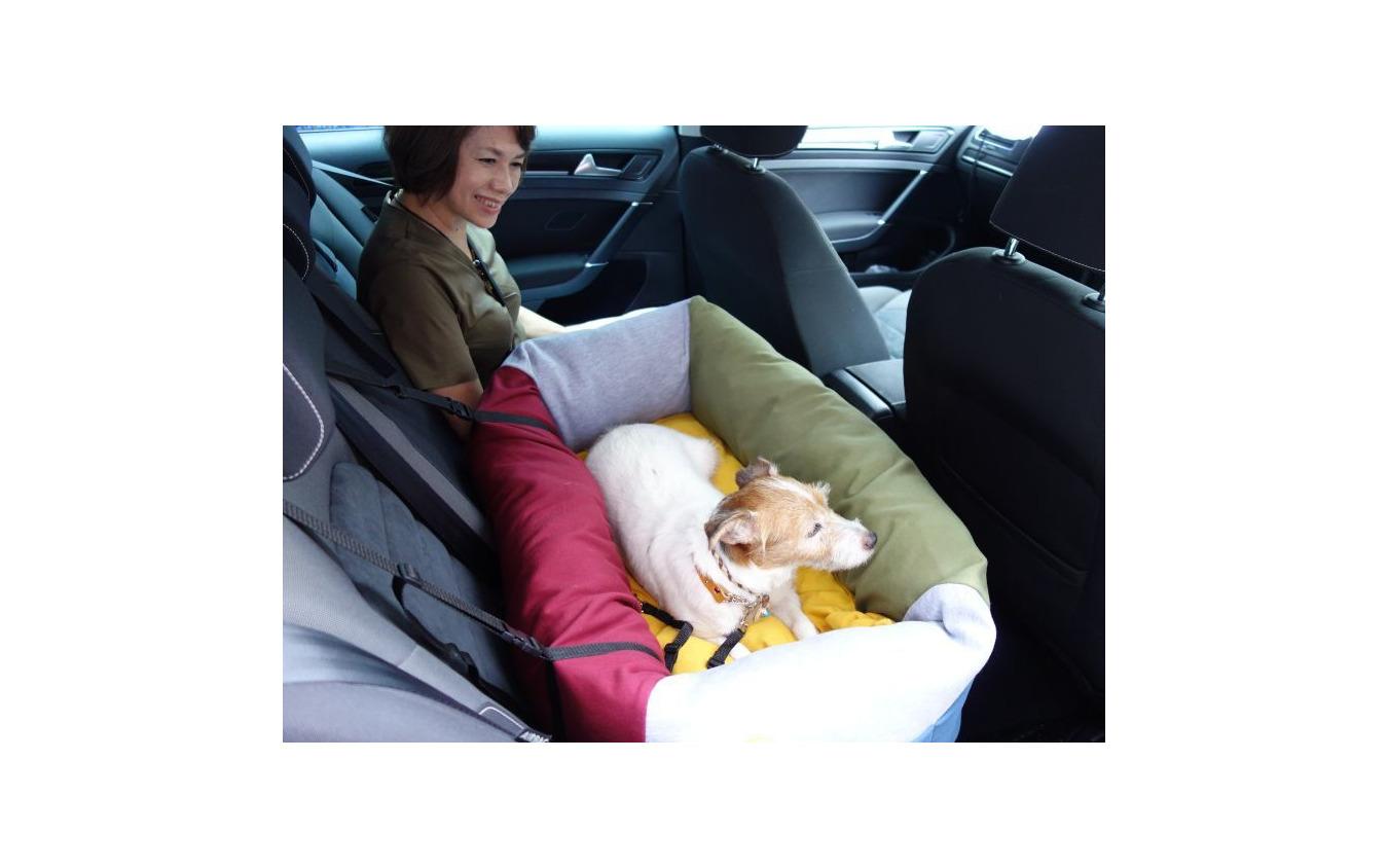 一体型ドッグカートを利用する場合は、愛犬の安全な乗車のために後席用ドッグベッドなどを用意
