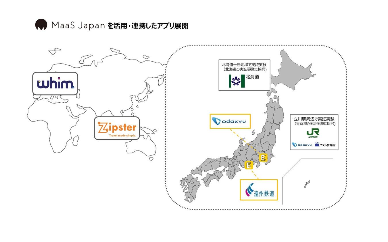 MaaS Japanを活用・連携したアプリ展開