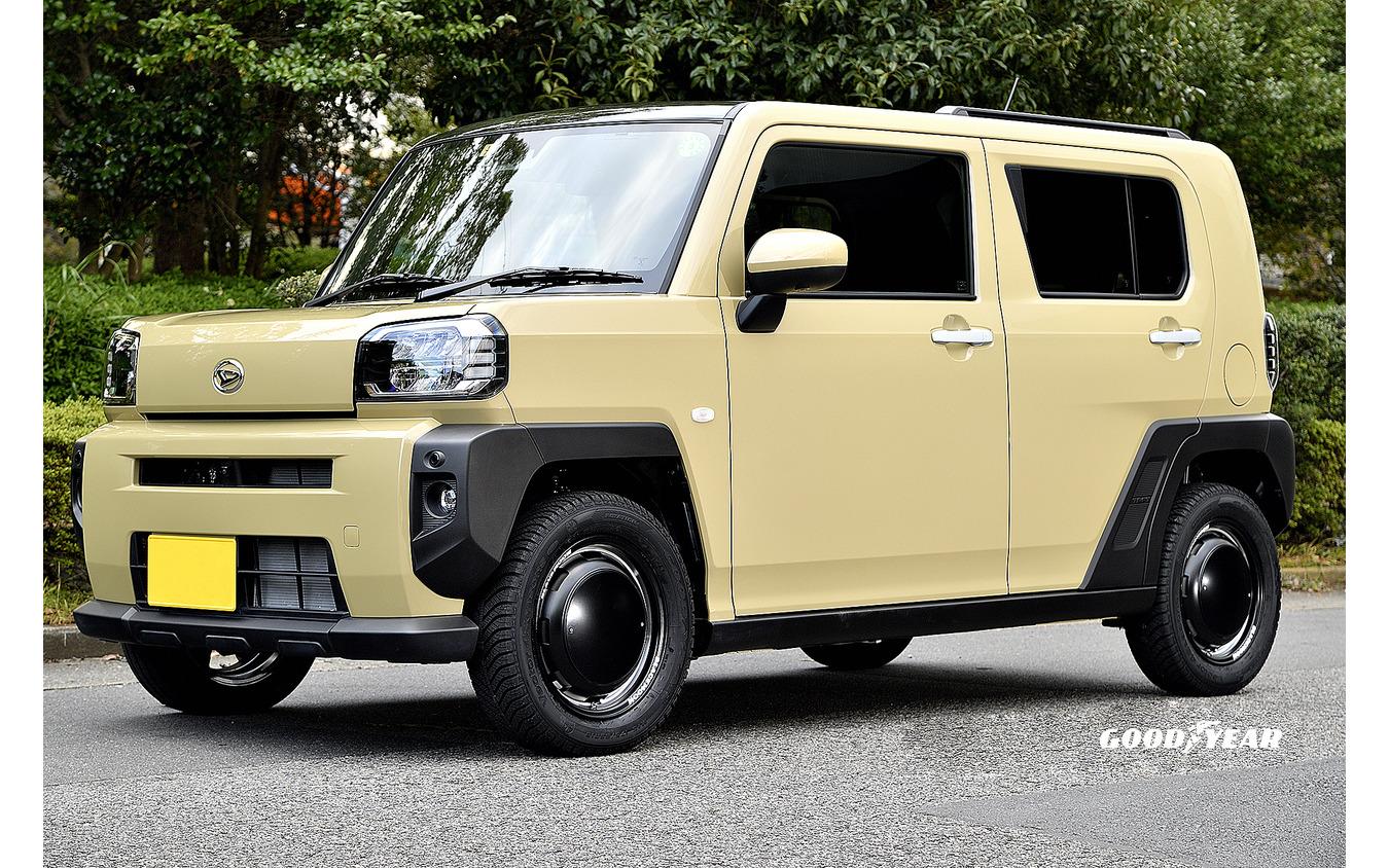 推奨サイズ:15×4.5JInset45 4H-100/カラー:セミグロスブラックリムヴァーレイポリッシュ/タイヤサイズ:175/65R15