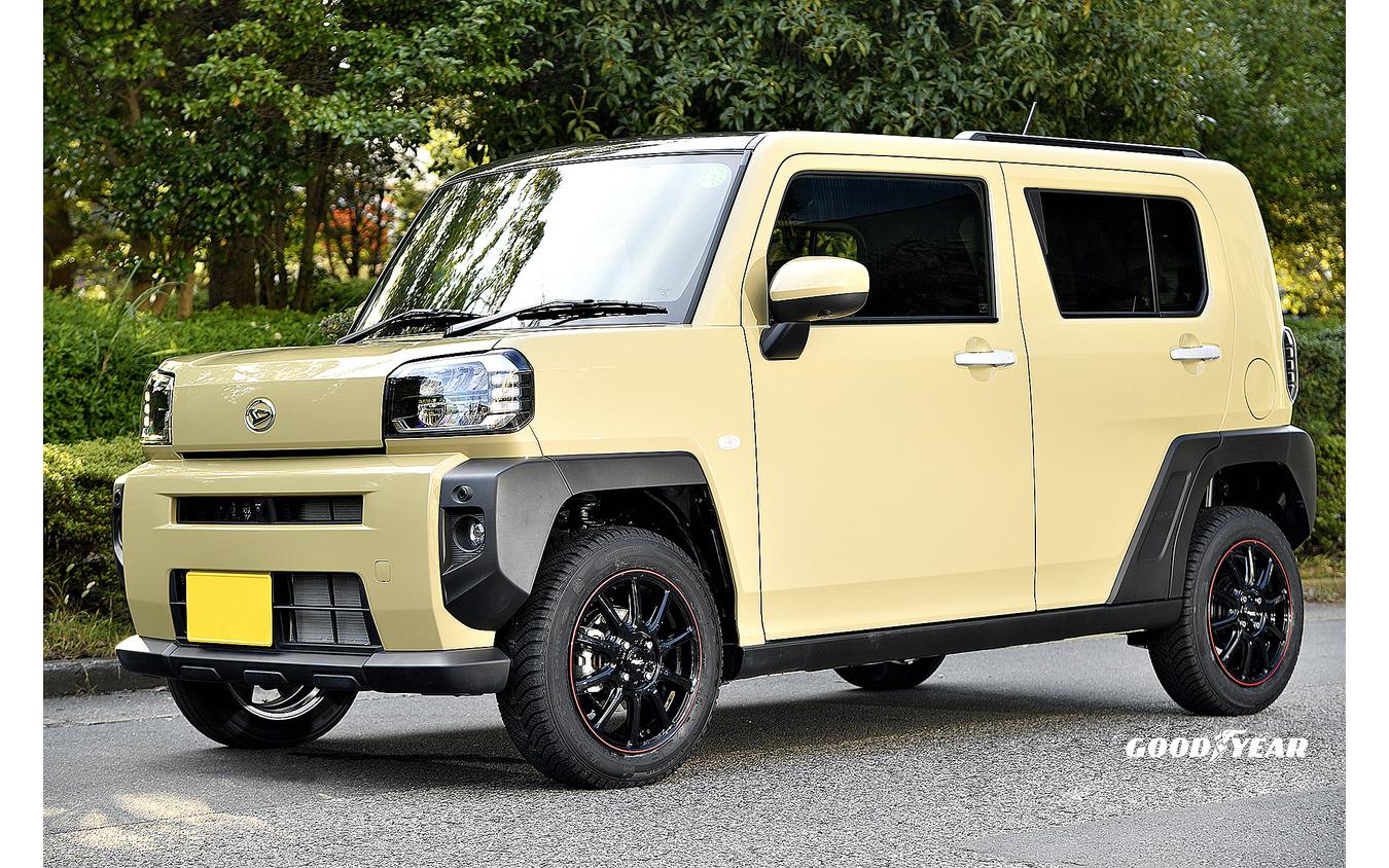 推奨サイズ:15×4.5JInset45 4H-100/カラー:ブラック+リムレッドライン/タイヤサイズ:175/65R15