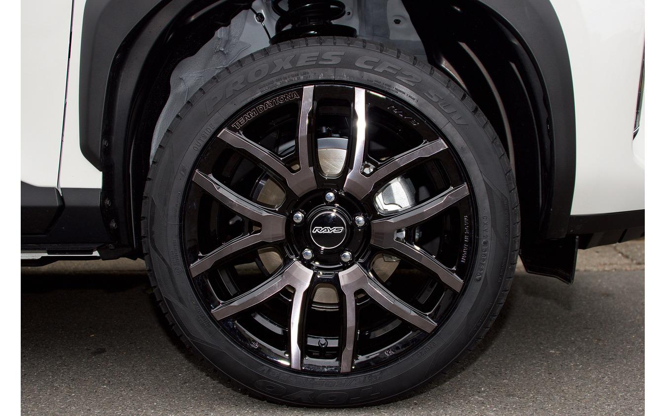 レイズ デイトナ F6drive 推奨サイズ:18×7.5J Inset43 5H-114.3/カラー:ブラックマシニング/タイヤサイズ:215/50R18 ※チューナーサイズ
