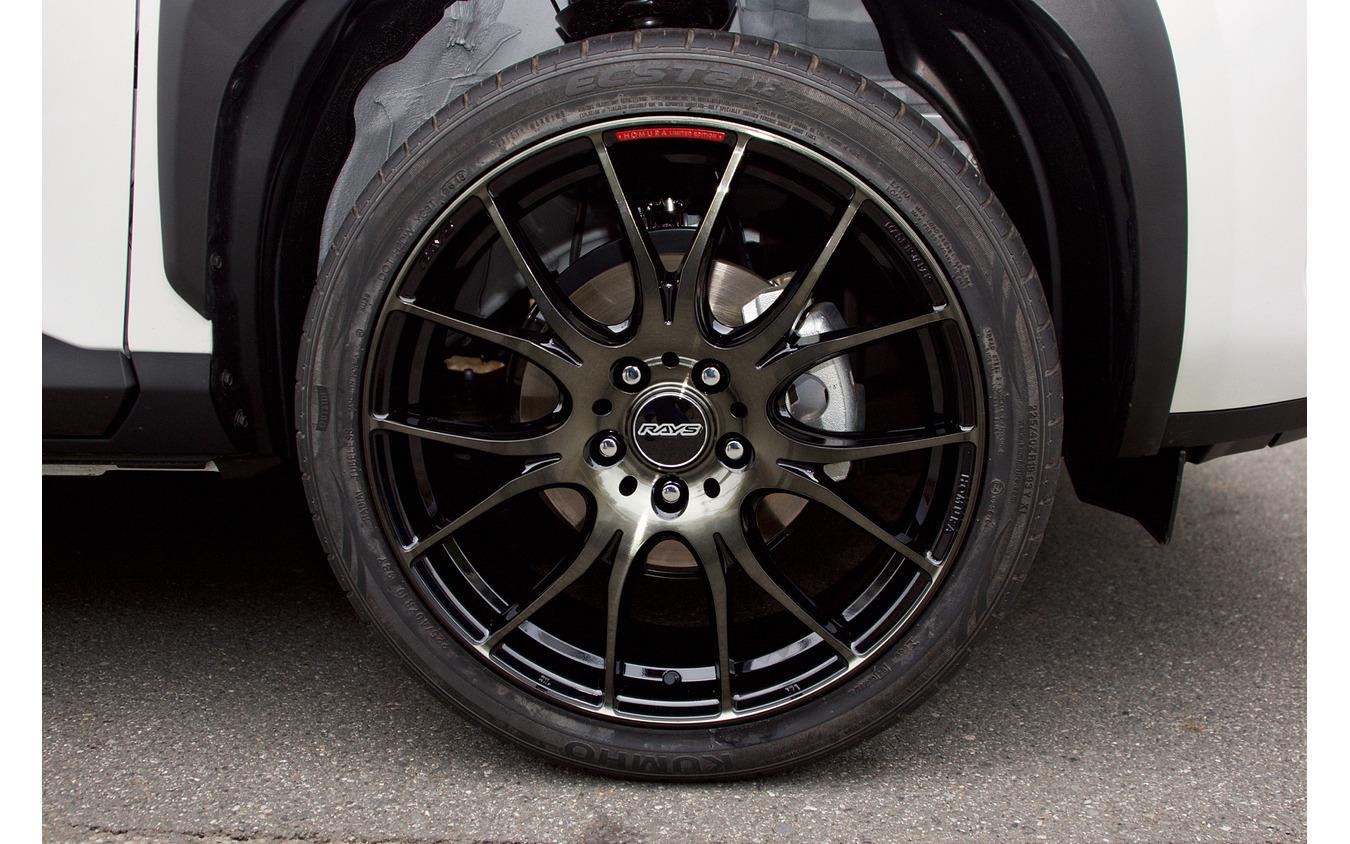 レイズ ホムラ2×7plus 推奨サイズ:19×7.5JInset45 5H-114.3/カラー:ブラッククリアー(限定モデル)/タイヤサイズ:225/40R19 ※チューナーサイズ