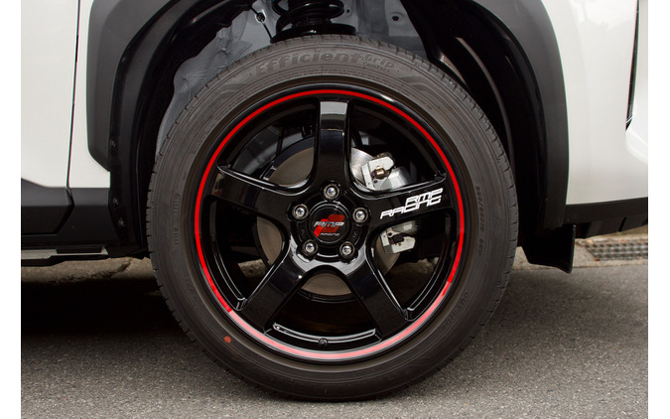 MiD RMPレーシング R50 推奨サイズ:18×8.5JInset45 5H-114.3/カラー:ブラックリム/レッドライン/タイヤサイズ:225/50R18 ※チューナーサイズ