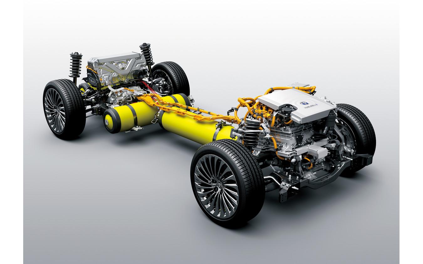 トヨタ MIRAI 新型の燃料電池ユニット