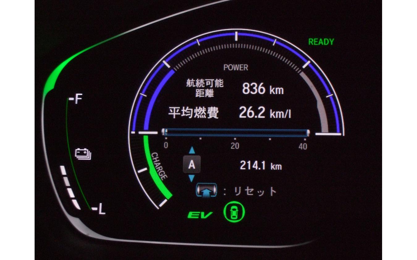 燃費は全般的に良好だった。写真は最良値だった愛知・幸田~静岡・沼津区間。