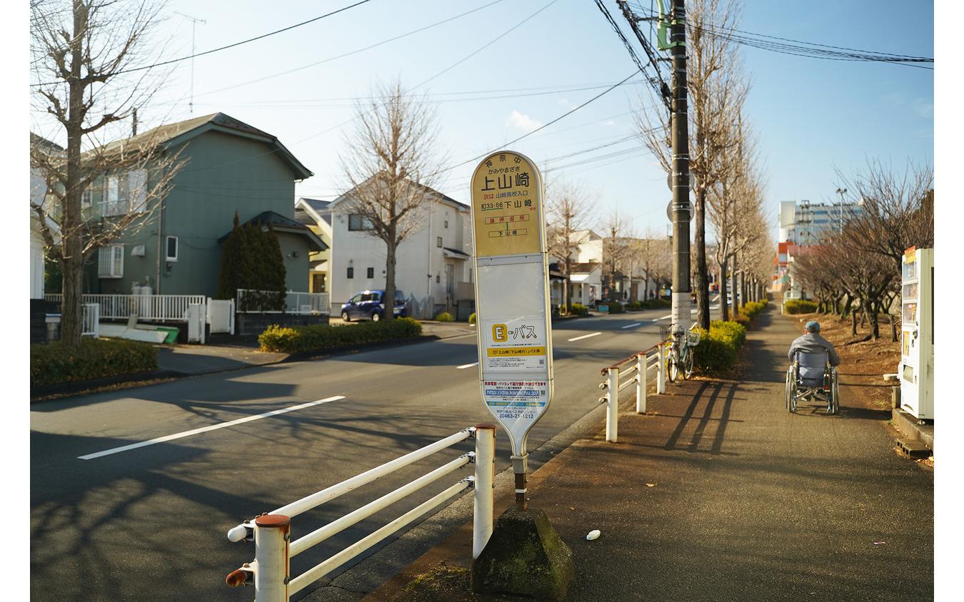 駅から続く路線バスのバス停