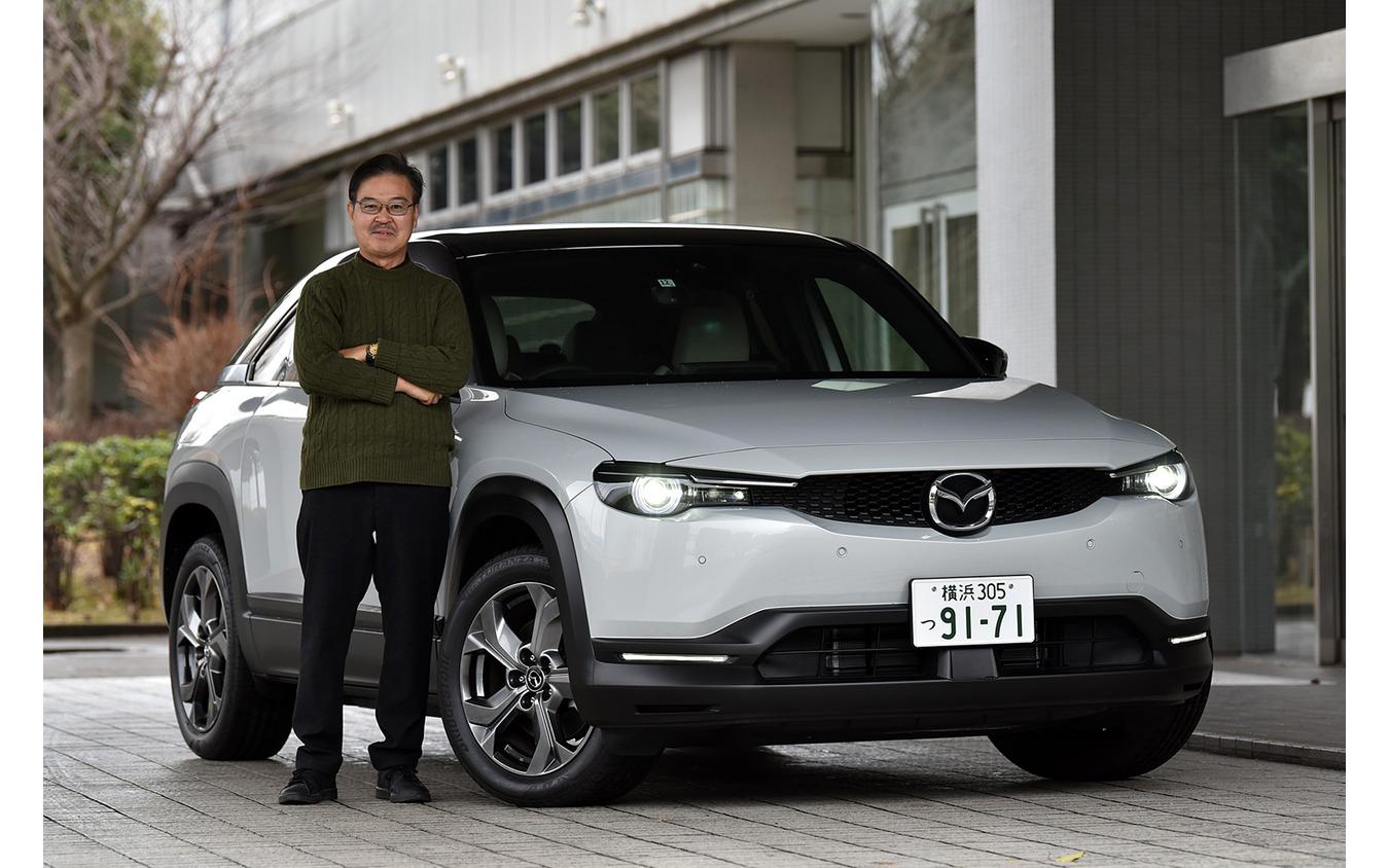 マツダ MX-30 EVと片岡英明氏