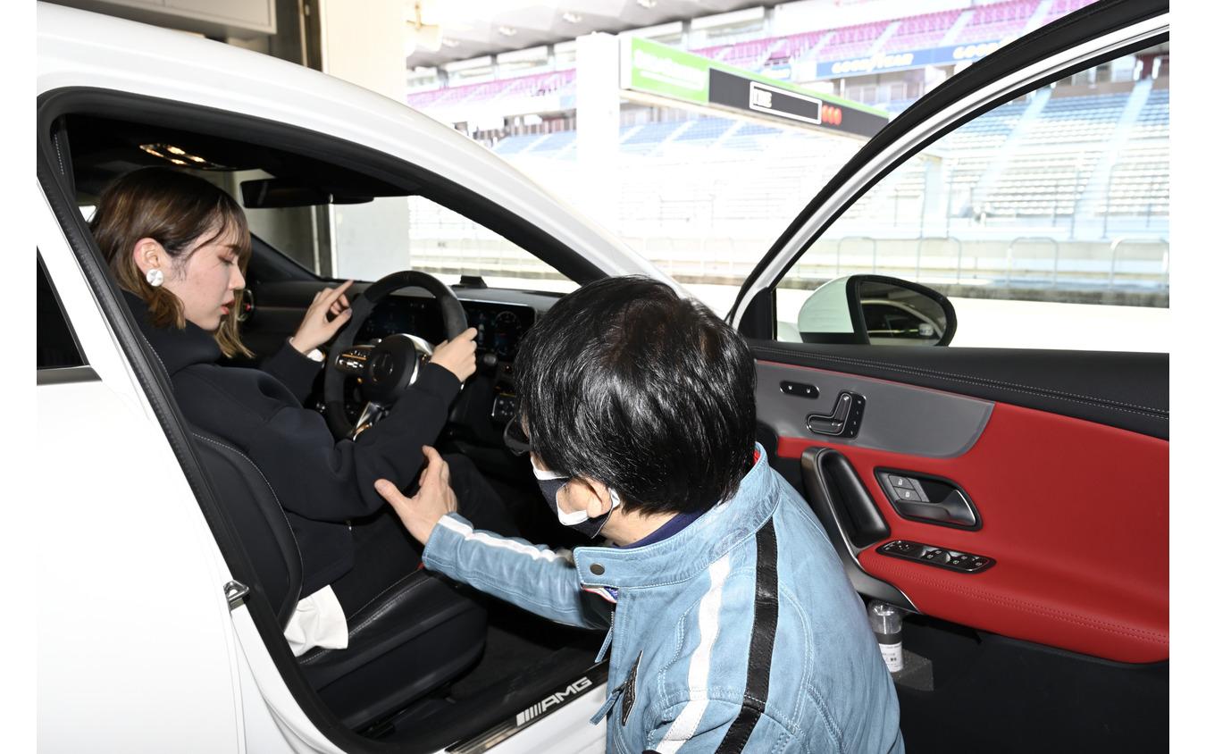 ドライビングポジションの大切さを中谷さんから伝授