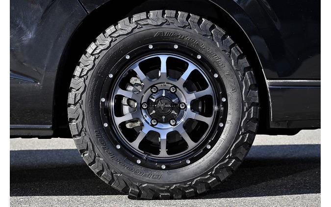 MID【ナイトロパワー M10 PERSHING】推奨サイズ:17×6.5J Inset38/カラー:ブラック/DC+マシニング/ブラッククリア/タイヤサイズ:225/65R17