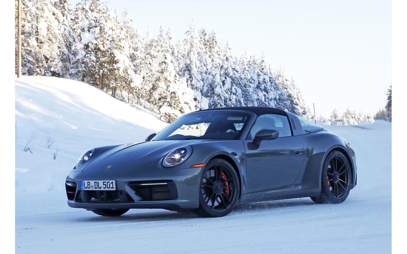 ポルシェ 911 タルガ GTS 市販型プロトタイプ(スクープ写真)