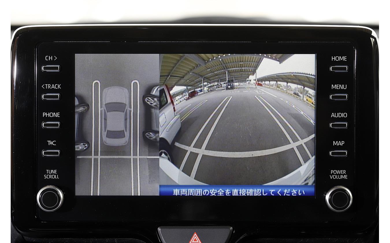 停止した状態で映像と実車を比べてみると差違は非常に少なかった