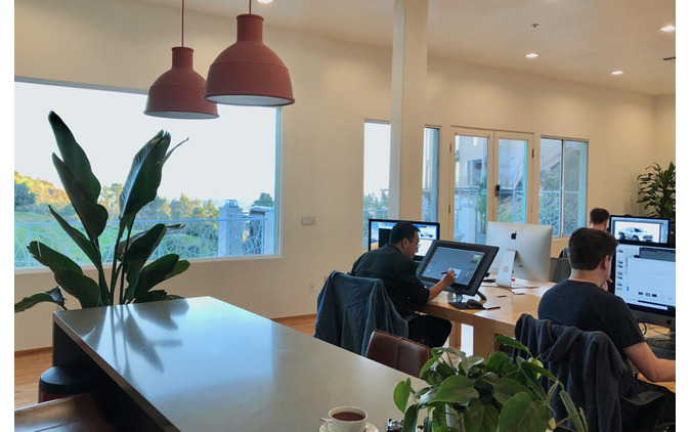 HHCPのデザインスタジオ。インターン学生はここでプロと切磋琢磨する。